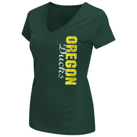 Oregon Ducks Womens Ncaa  Compulsory  Dual Blend Short Sleeve T Shirt