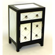 Wayborn Tanner Mirrored End Table in Black