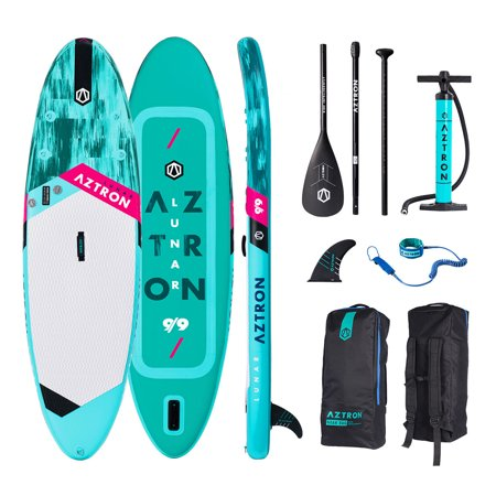 Aztron LUNAR Double Air Chamber Inflatable Stand Up Paddle SUP Board with Adjustable Paddle, Bag, Pump, and Leash](jimmy styks otter paddle board)