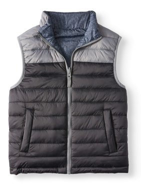 Wonder Nation Reversible Puffer Vest (Little Boys, Big Boys & Husky)