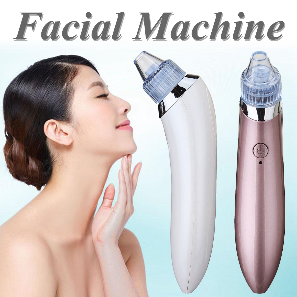 Electric Facial Pore Blemish Cleanser BlackHead Cleaner Acne Remover Tool Kit
