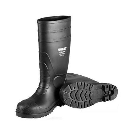 Tingley Rubber 31151.05 Work Boots, Black PVC, 15-In., Men's Size 5, Women's Size