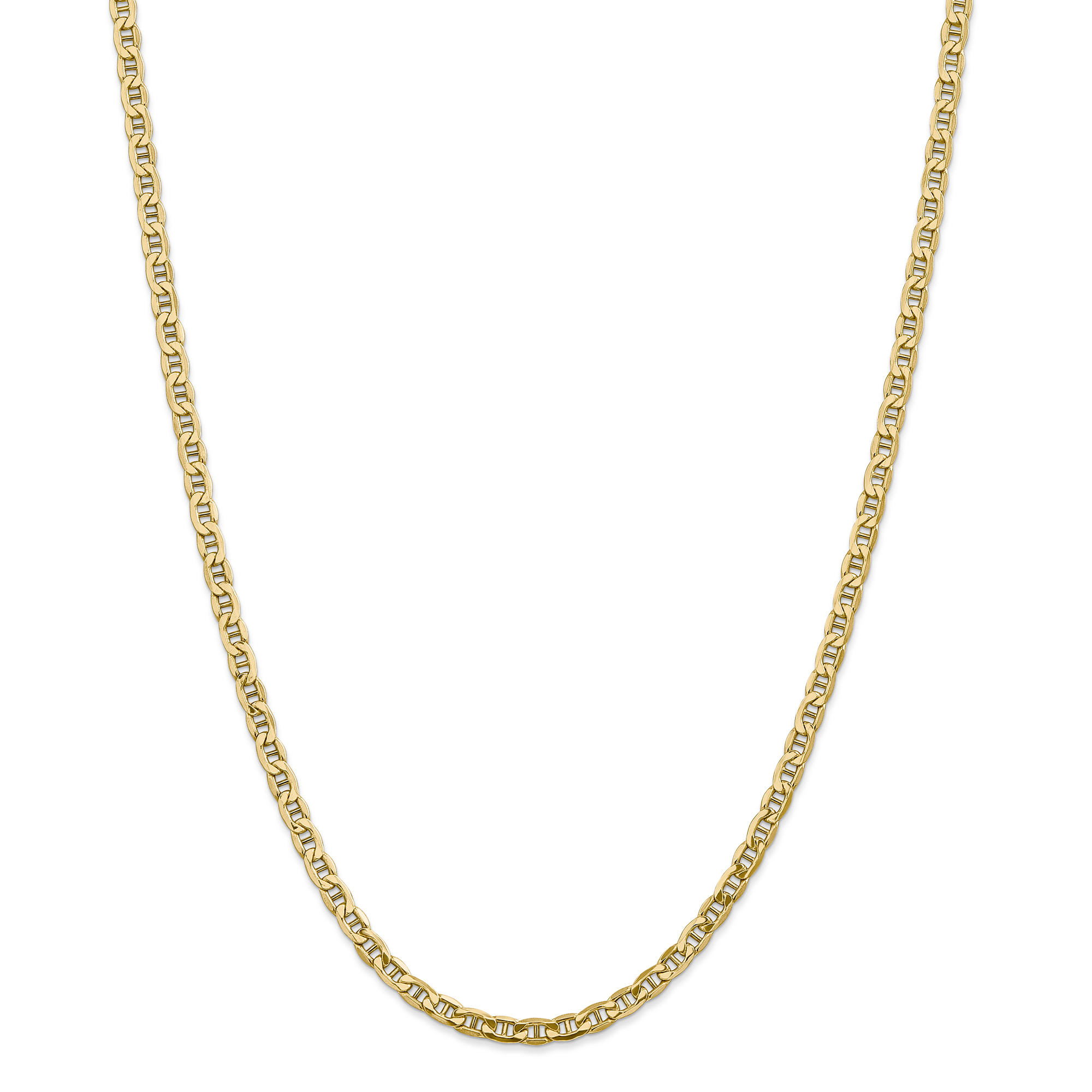 ICE CARATS 14kt Yellow Gold 4.1mm Link Anchor Chain Necklace 16 Inch Pendant Charm Fine Jewelry Ideal Gifts For Women... by IceCarats Designer Jewelry Gift USA