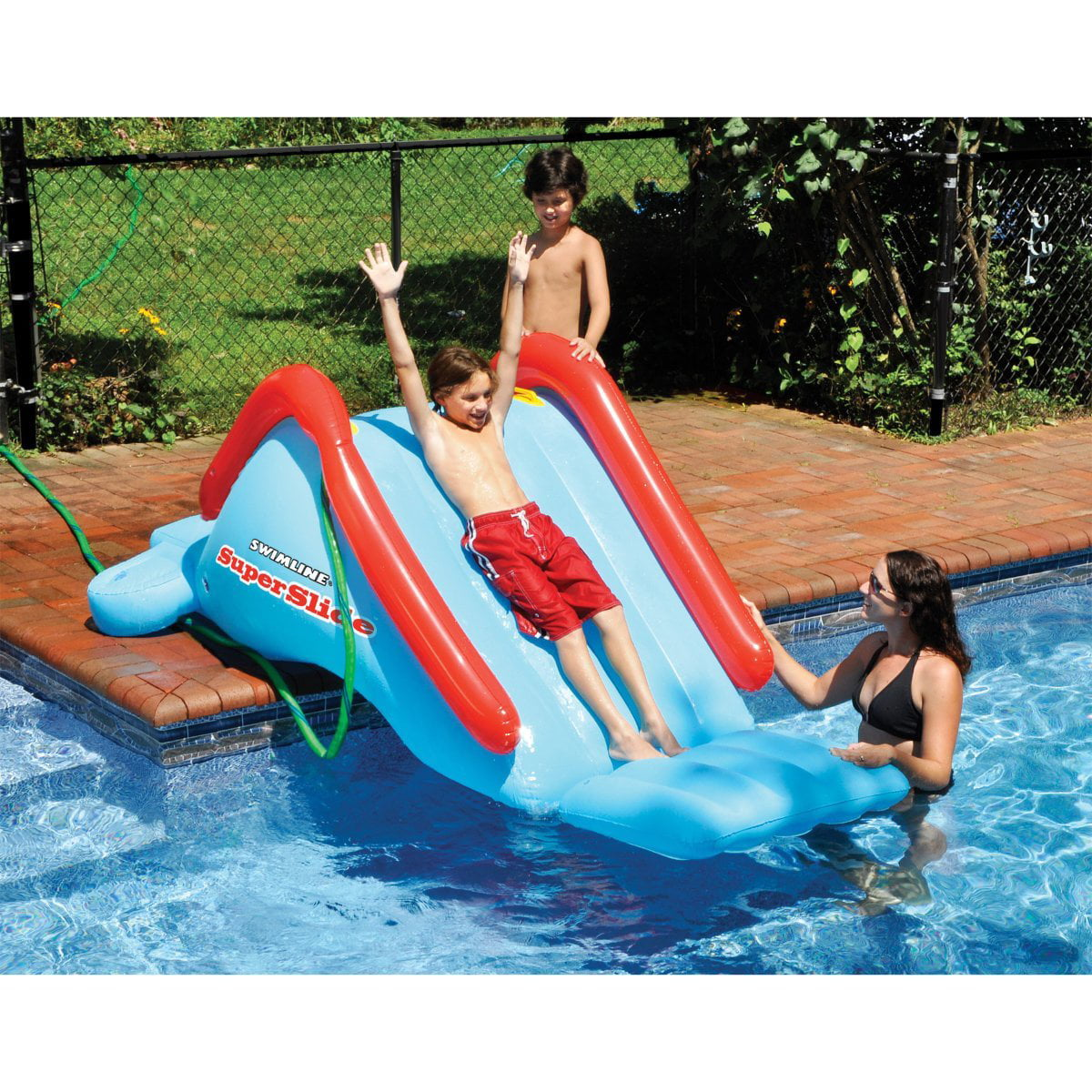 Swimline SuperSlide Inflatable In Ground Pool Water Slide by - Walmart.com