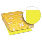 Neenah Paper Astrobrights Colored Paper 24lb 8-1/2 x 11 Lift-Off Lemon 500 Sheets/Ream 21011