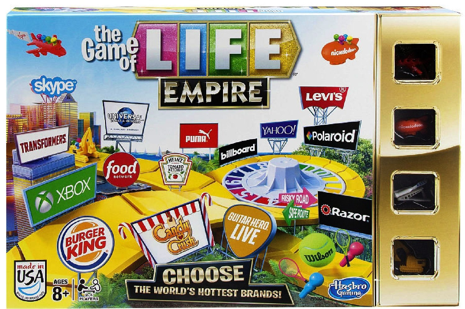 The Game of Life Game Empire Edition, Players can choose the world's hottest brands in The... by