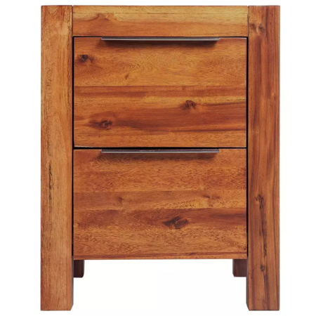 Two Drawer Bed Side Cabinet - GHP 17.7