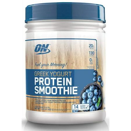 Optimum Nutrition Greek Yogurt Protein Smoothie Powder, Blueberry, 20g Protein, 1.02 Lb