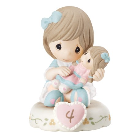 Precious Moments Growing Grace Age Four Brunette Porcelain Figurine