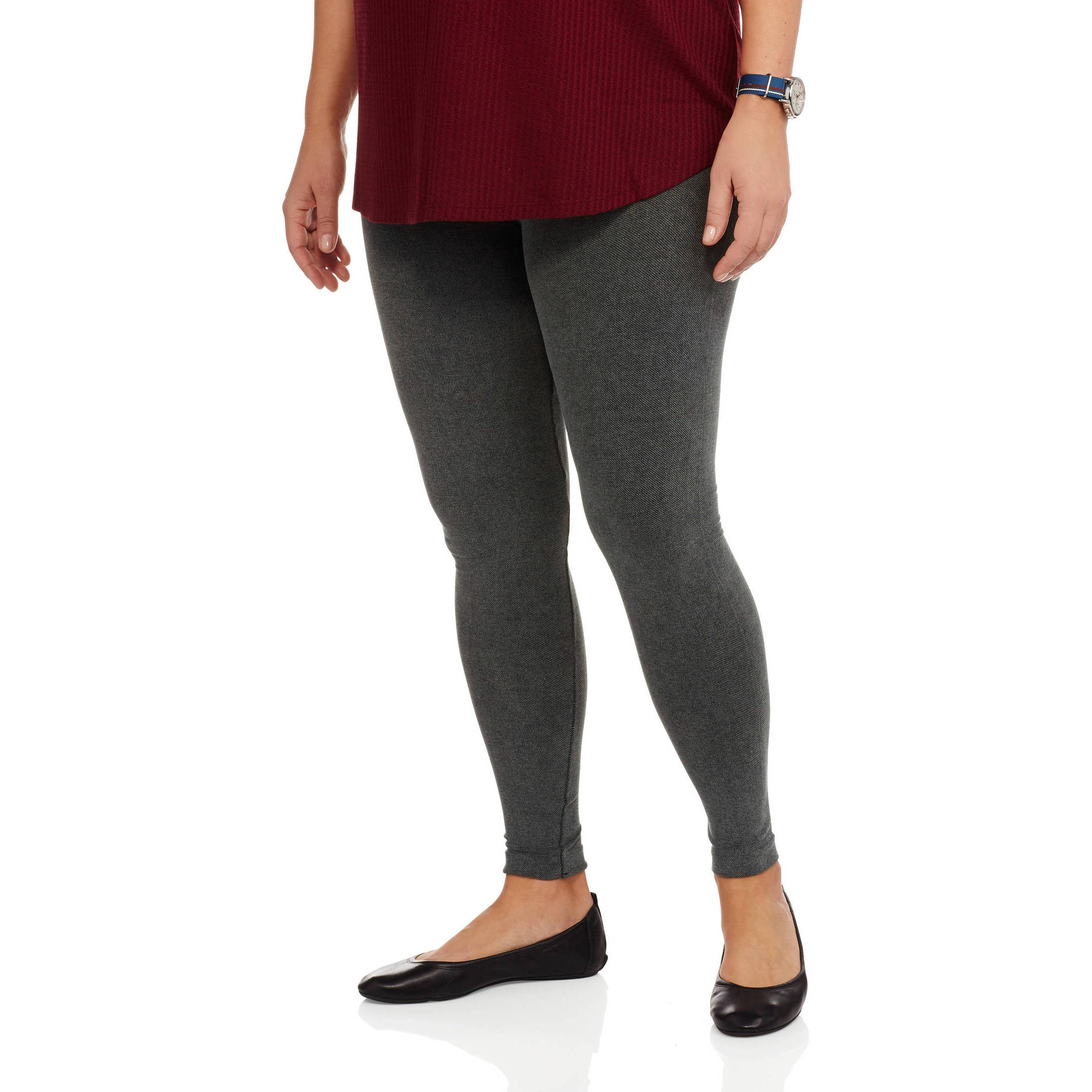 Extra Touch Junior Plus Knit Leggings