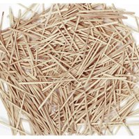 Natural Wooden Flat Toothpicks - 2500 per pack, 6 packs