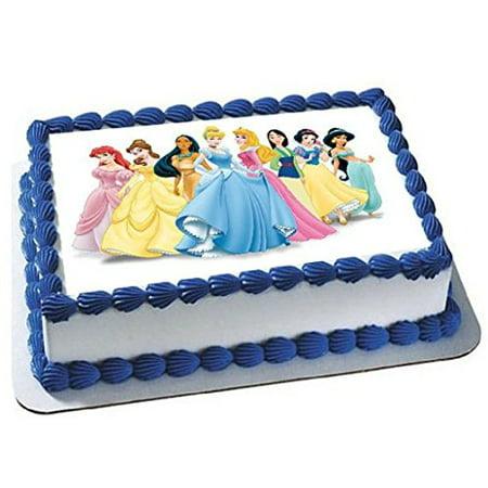 Disney Princesses emblem Cake Edible 1/4 Sheet Image Topper Birthday Party Favor Movie