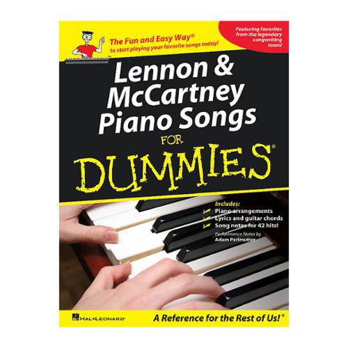 Hal Leonard Lennon & McCartney Piano Songs for Dummies (P/V/G)