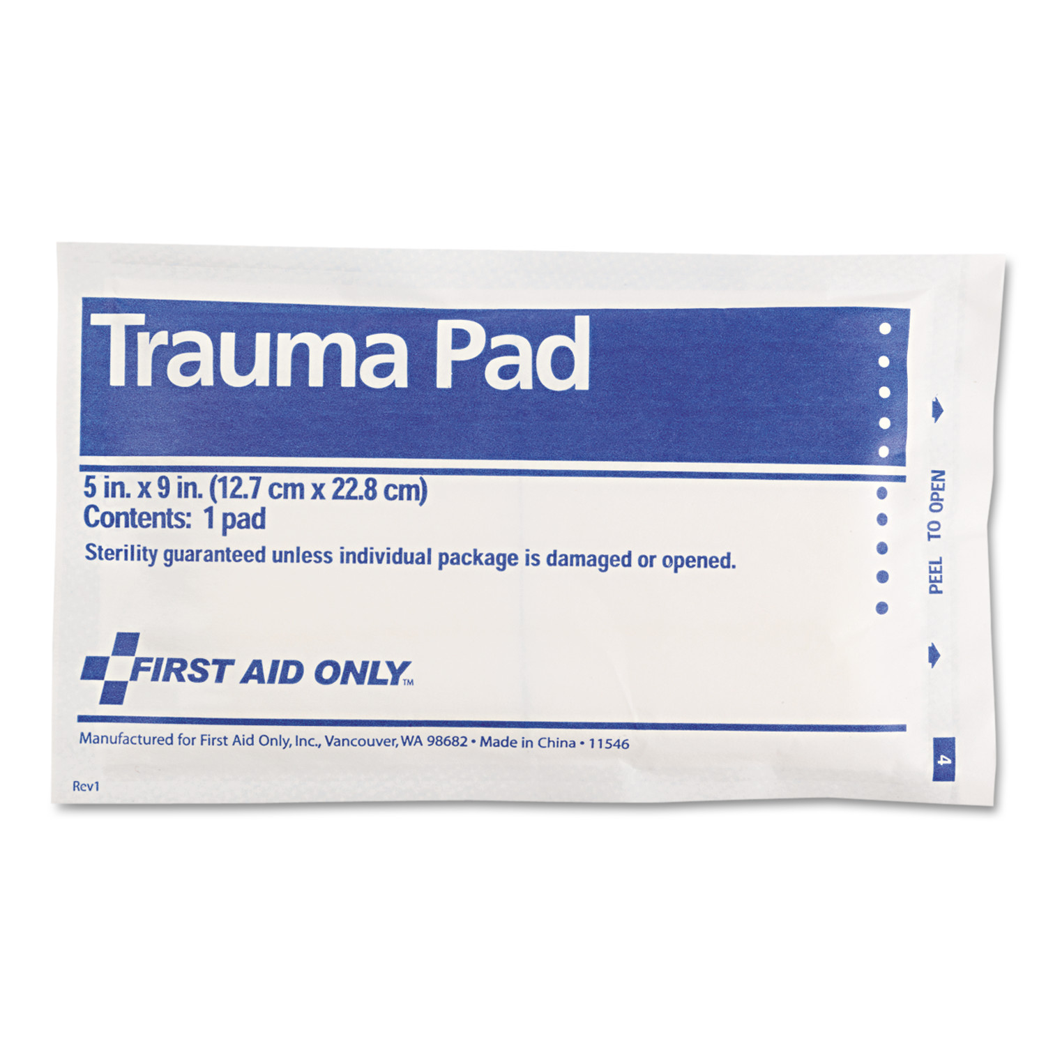 """First Aid Only Trauma Pad, 5"""" x 9"""" by FIRST AID ONLY, INC."""