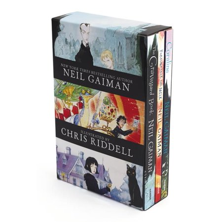 Neil Gaiman/Chris Riddell 3-Book Box Set : Coraline; The Graveyard Book; Fortunately, the Milk (Paperback)
