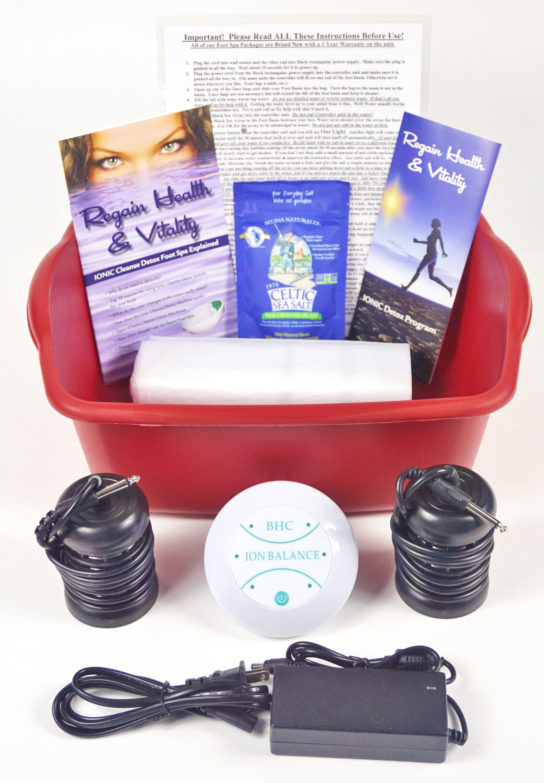 Ionic Detox Ionic Foot Bath Spa Chi Cleanse Unit For Home Use Affordable Detox Foot Spa Machine Free Booklet Walmart Com Walmart Com