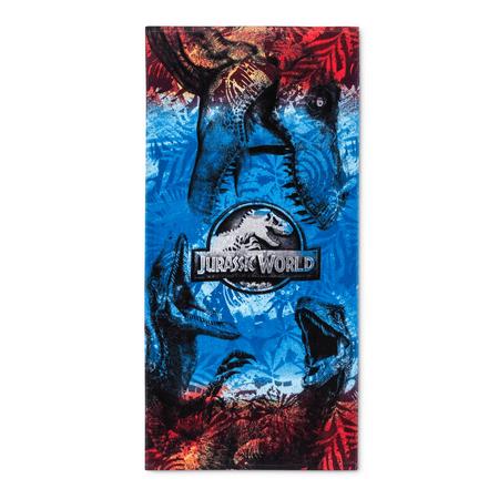 (Jurassic World  Velociraptor and T Rex Cotton Beach Towel)