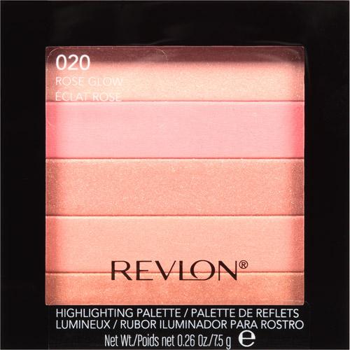 Revlon Highlighting Palette, Rose Glow, 0.26 Oz