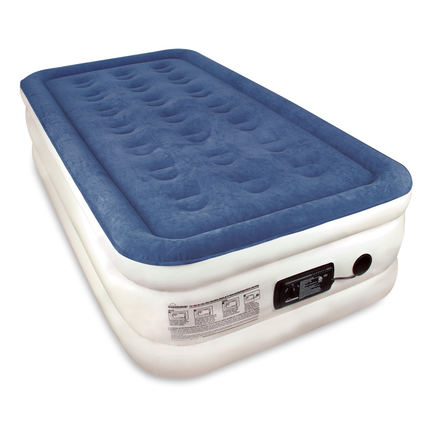 SoundAsleep Twin Sized Dream Series Air Mattress with Com...