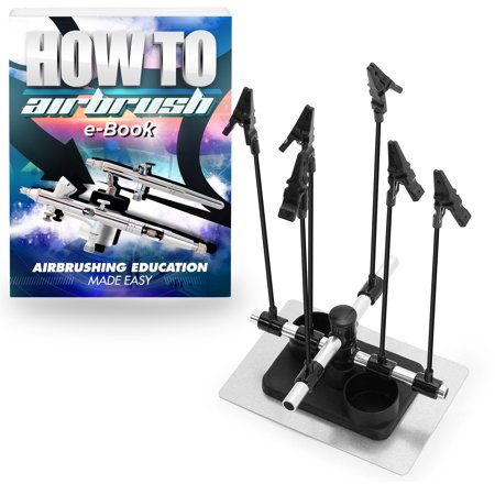 PointZero Airbrush Hobby Model Part Holder - Six Alligator Clip - 1 Airbrush Parts
