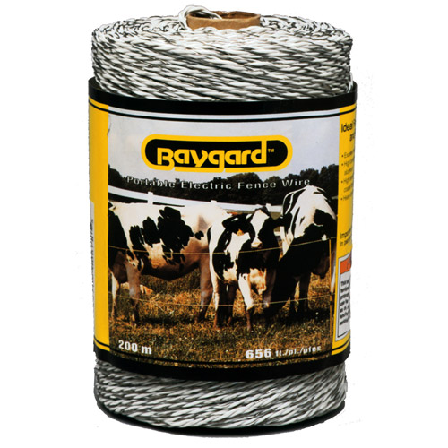 Baygard Parker Mccrory 00678 656' White Portable Electric Fence Wire
