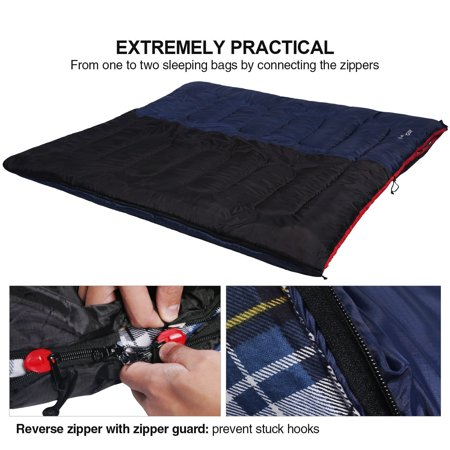 Redcamp Cotton Flannel Sleeping Bag S Camping Envelope Blue 2 3 4lb Filling