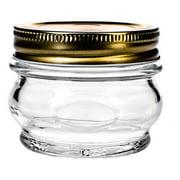 Amici Home Italian Glass Canning Jar, 7.5oz, Set of 6