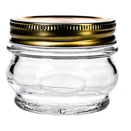 global amici orto canning glass jar with lid 7 5 oz set of 6. Black Bedroom Furniture Sets. Home Design Ideas