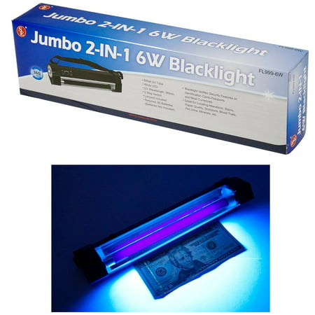 Counterfeit Currency Detection - Blacklight Black Light UV Counterfeit Bill Currency Detector Battery Operated