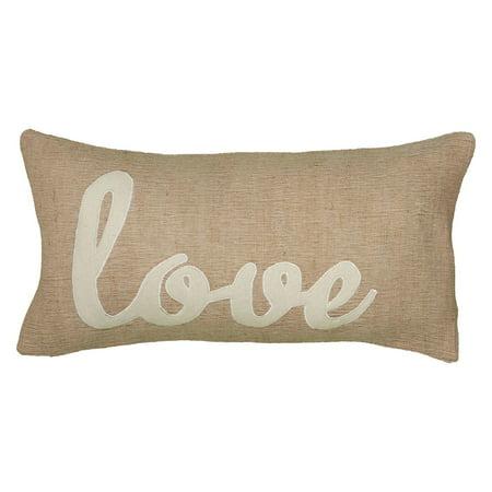 "Wildon Home ""Love"" Decorative Throw Pillow Cover, 12"" x 18"""