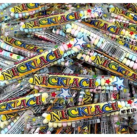 Candy Necklace - Individually Wrapped - 50 Count - Individually Wrapped Buttermints