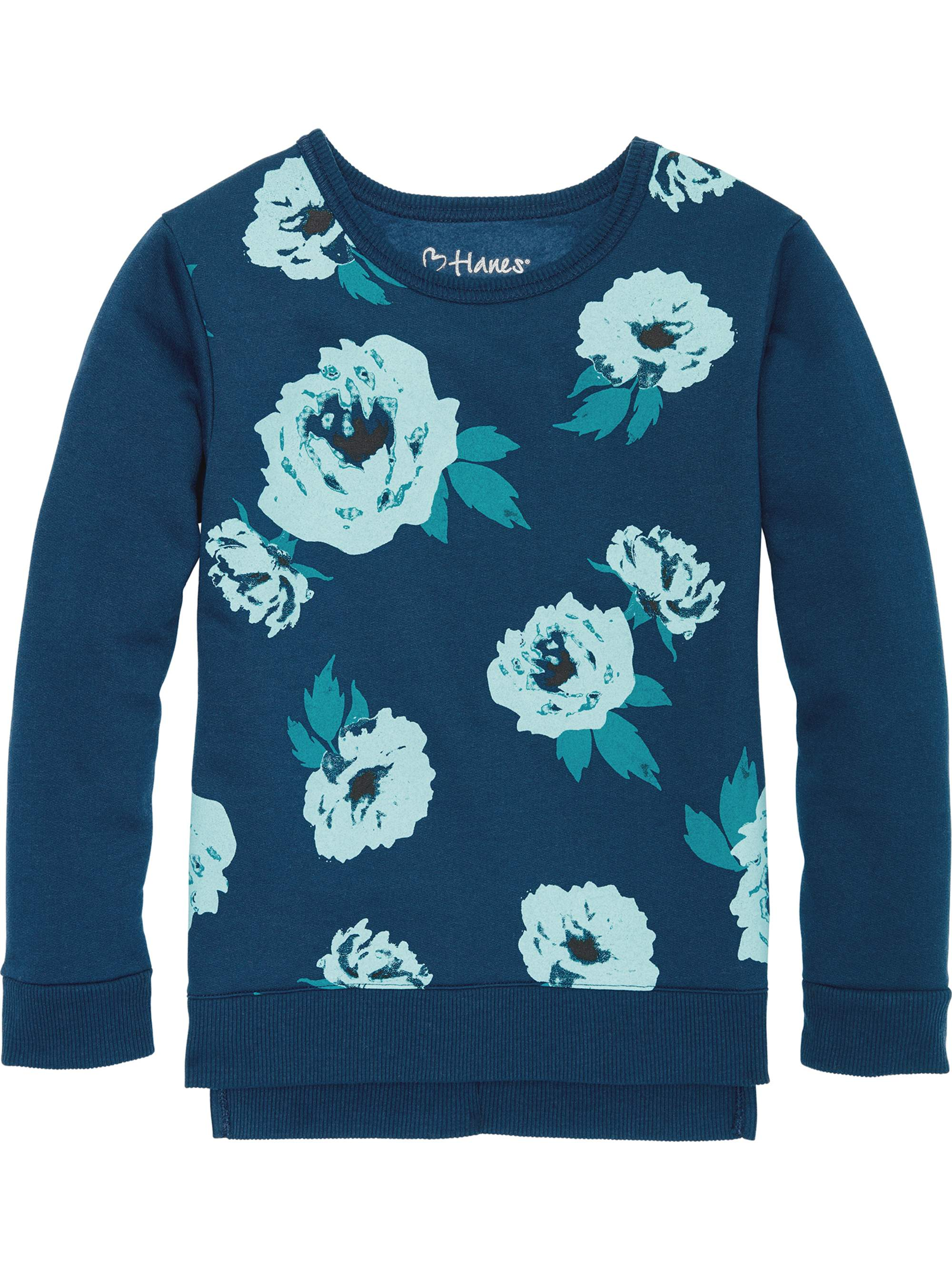 Printed Fleece Hi-Lo Sweatshirt (Little Girls & Big Girls)