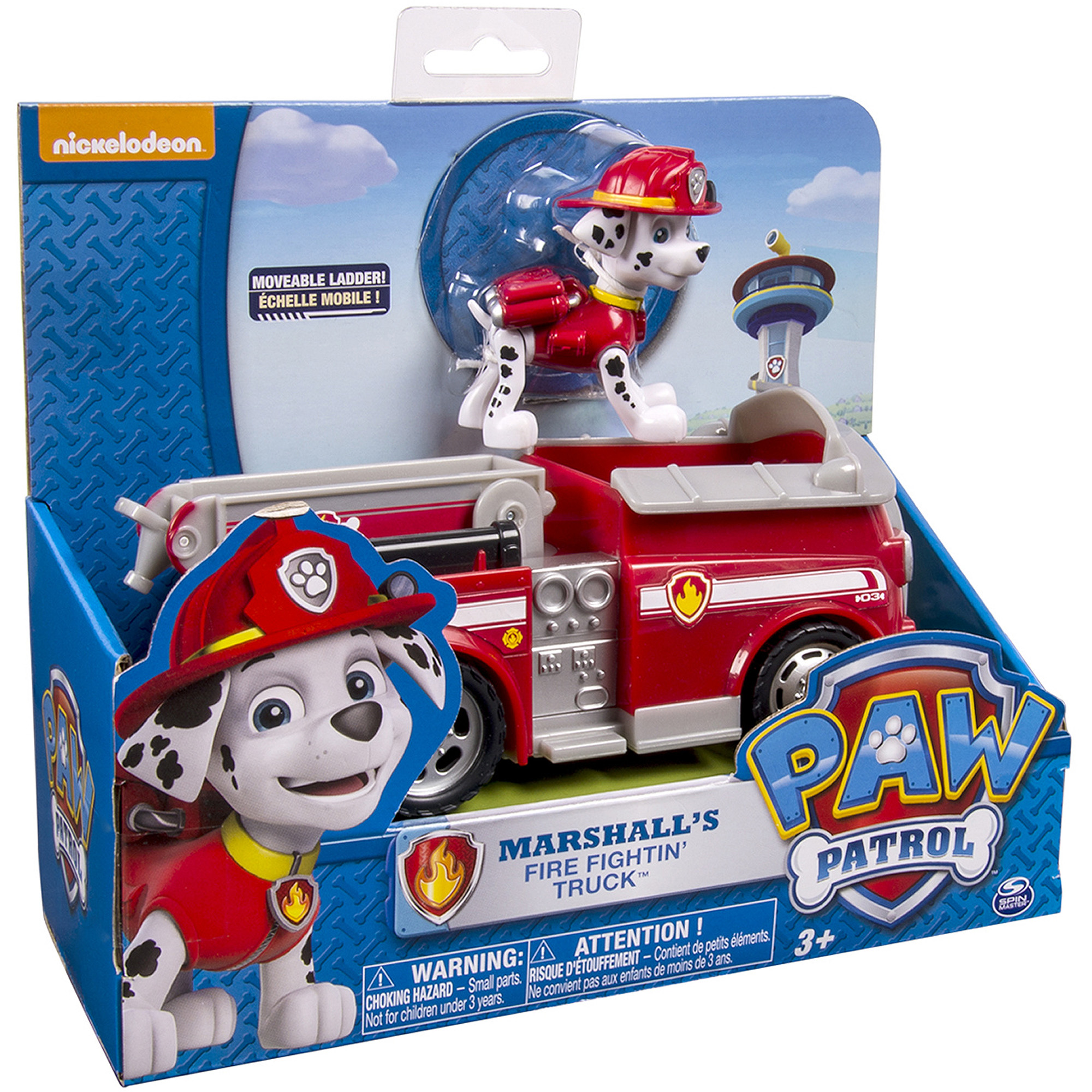 Nickelodeon Paw Patrol - Marshall's Fire Fightin' Truck, Vehicle and Figure