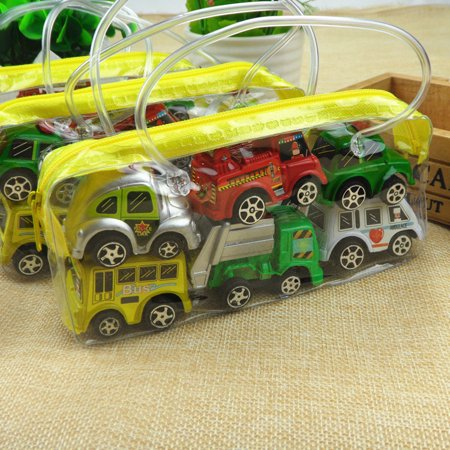 6 Pieces Cute Pullback Cartoon Car Toy Inertia Pullback Car Toy Set for Kids and Toddlers