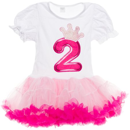 Silver Lilly Baby Girls Birthday Tutu Dress Outfit, Light/Hot Pink, Two Year - 2 Year Old Baby Girl Birthday Themes