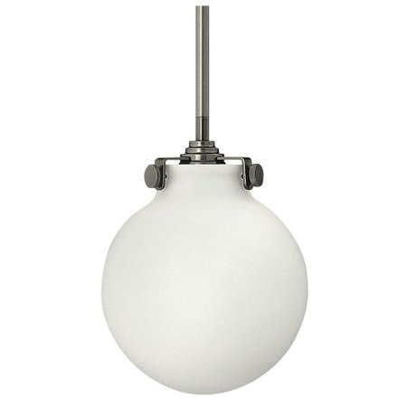 Opal Cased Globe Pendant - Hinkley Lighting 3133 1-Light Indoor Mini Pendant with Etched Opal Globe Shade from the Congress Collection