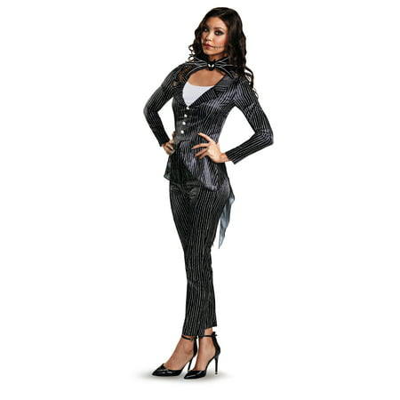 Jack Skellington Female Deluxe Adult Costume - Halloween Skellington