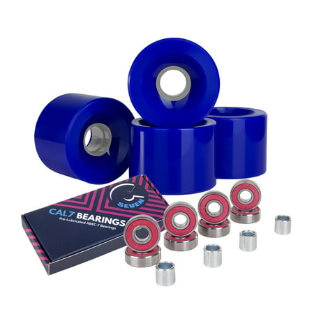 Cal 7 Polyurethane Skateboard Wheels for Street and Park 60x44mm 83A (Solid