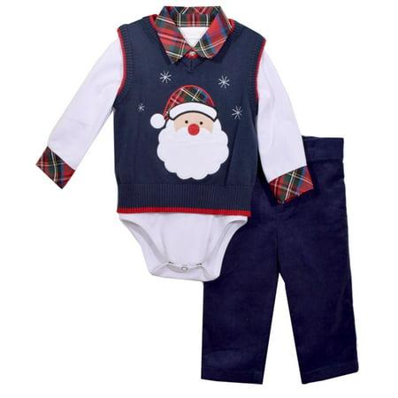 Bonnie Jean Boys Santa Sweater Pants Set 3 pc set 18 months - Santa Clothes For Kids