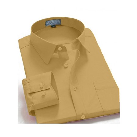 Men's Regular Fit Long Sleeve French Cuff One Pocket Casual Dress Shirt