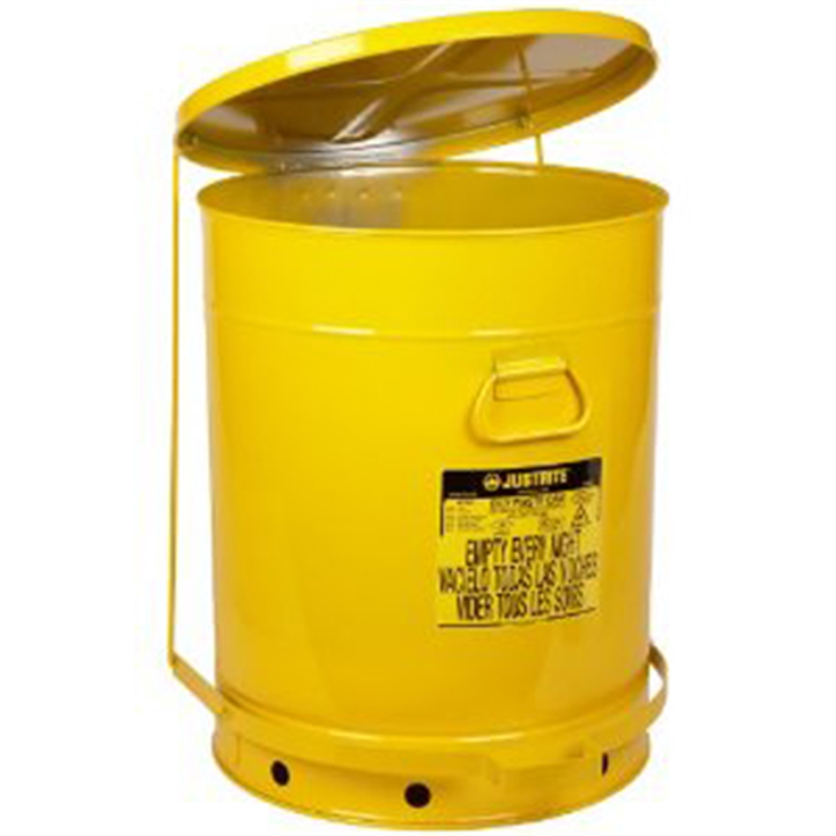 21 Gal Yellow Oily Waste Can