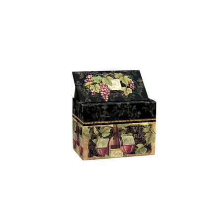 LANG GILDED WINE RECIPE CARD BOX](Recipe Box And Cards)