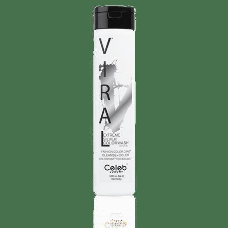 Celeb Luxury VIRAL COLORWASH, EXTREME SILVER, 8.25 oz. (Sliver Hair)