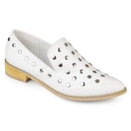 Brinley Co. Women's Nubuck Stud Pointed Toe Flats