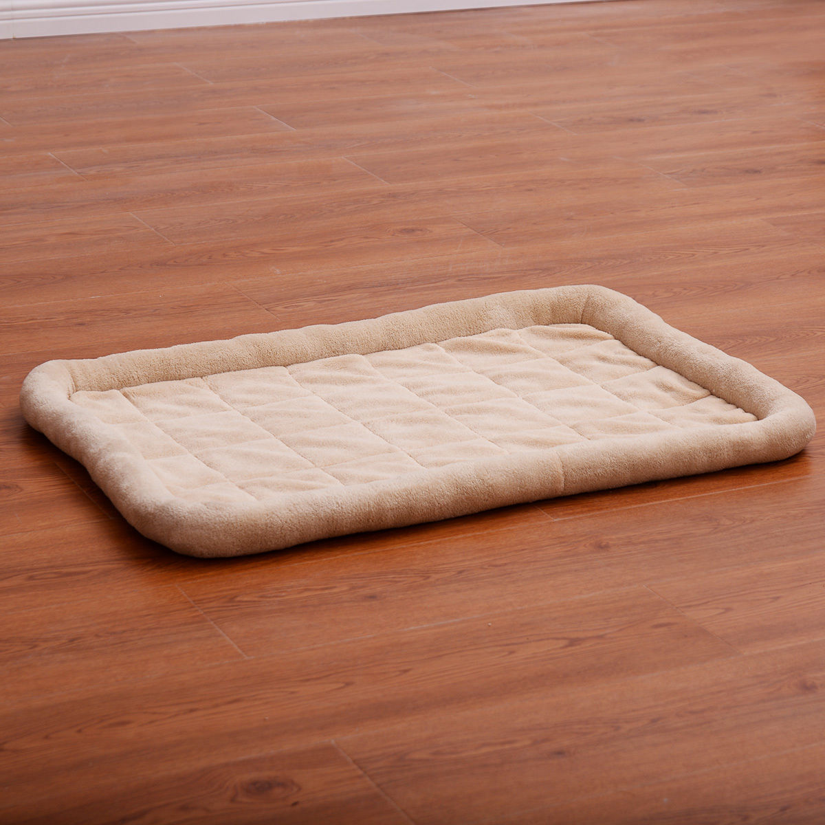 Costway Beige Pet Dog Cat Bed Cushion Mat Pad Kennel Crate Cozy Warm Soft House M size