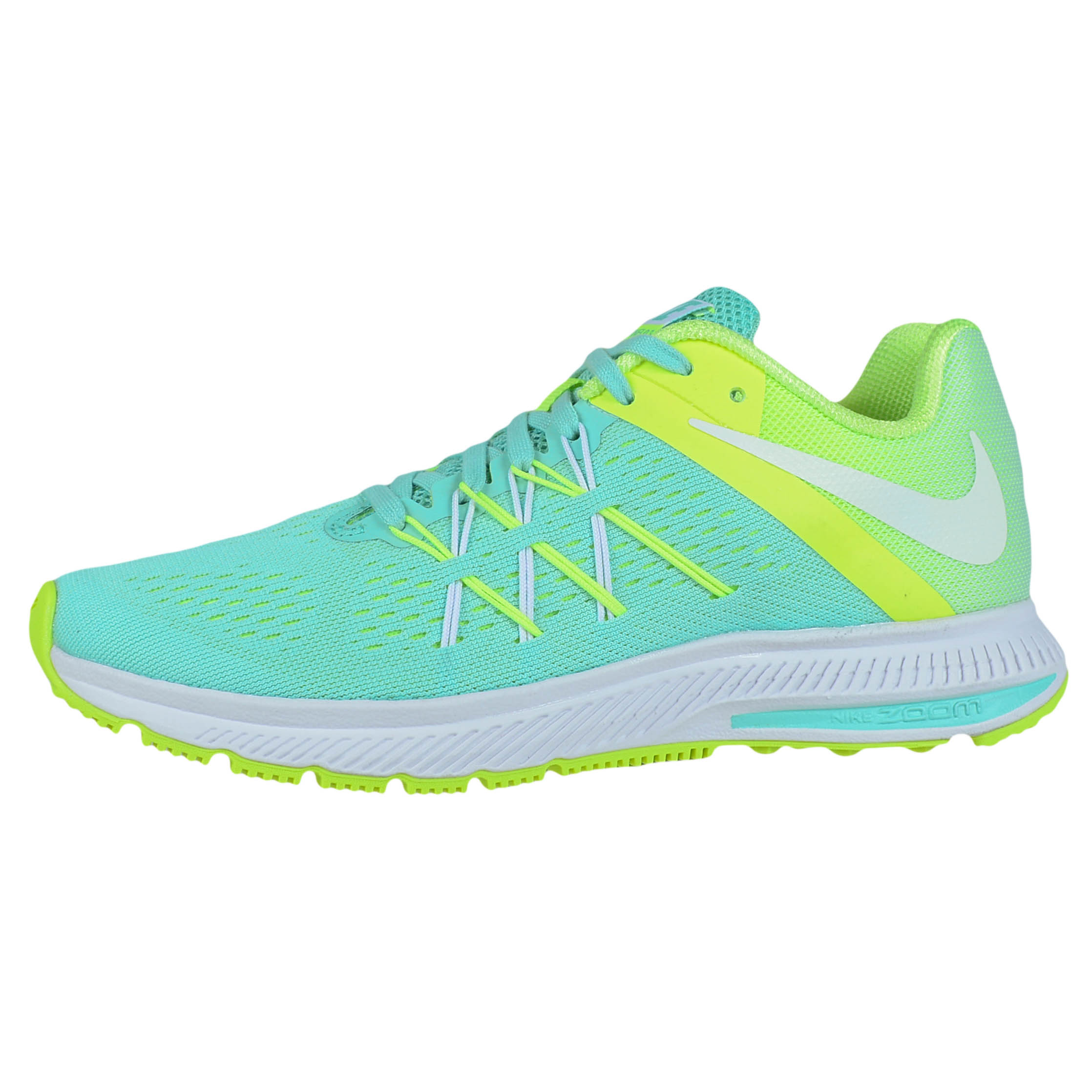 Nike - NIKE WOMENS ZOOM WINFLO 3 RUNNING SHOES HYPER TURQUOISE WHITE VOLT 831562  300 - Walmart.com 15533cb4a