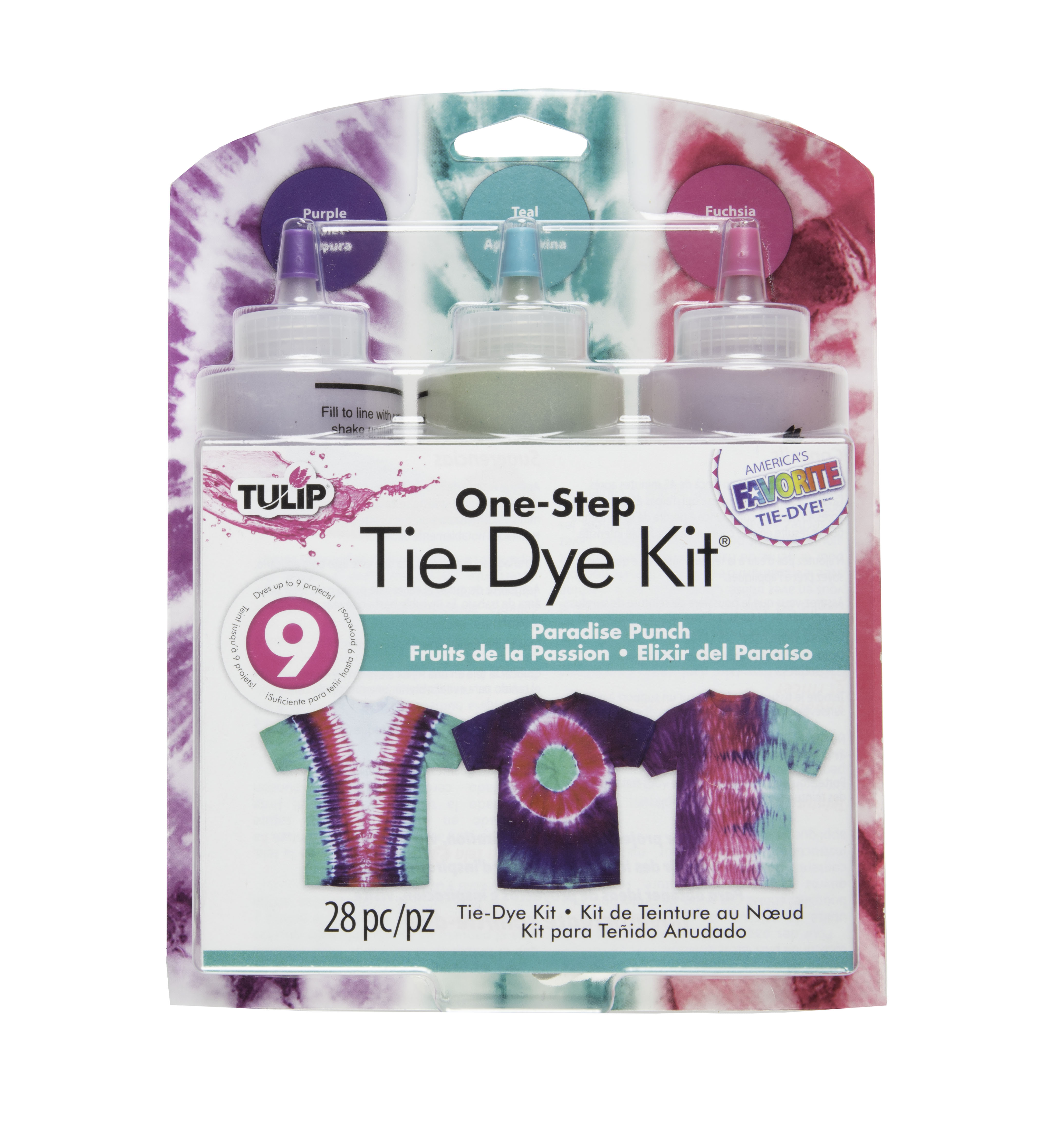 Tulip Medium Paradise Punch Tie Dye Kit, 3 Piece