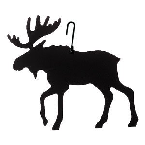 Village Wrought Iron HOS-19 Moose Silhouette Decoration