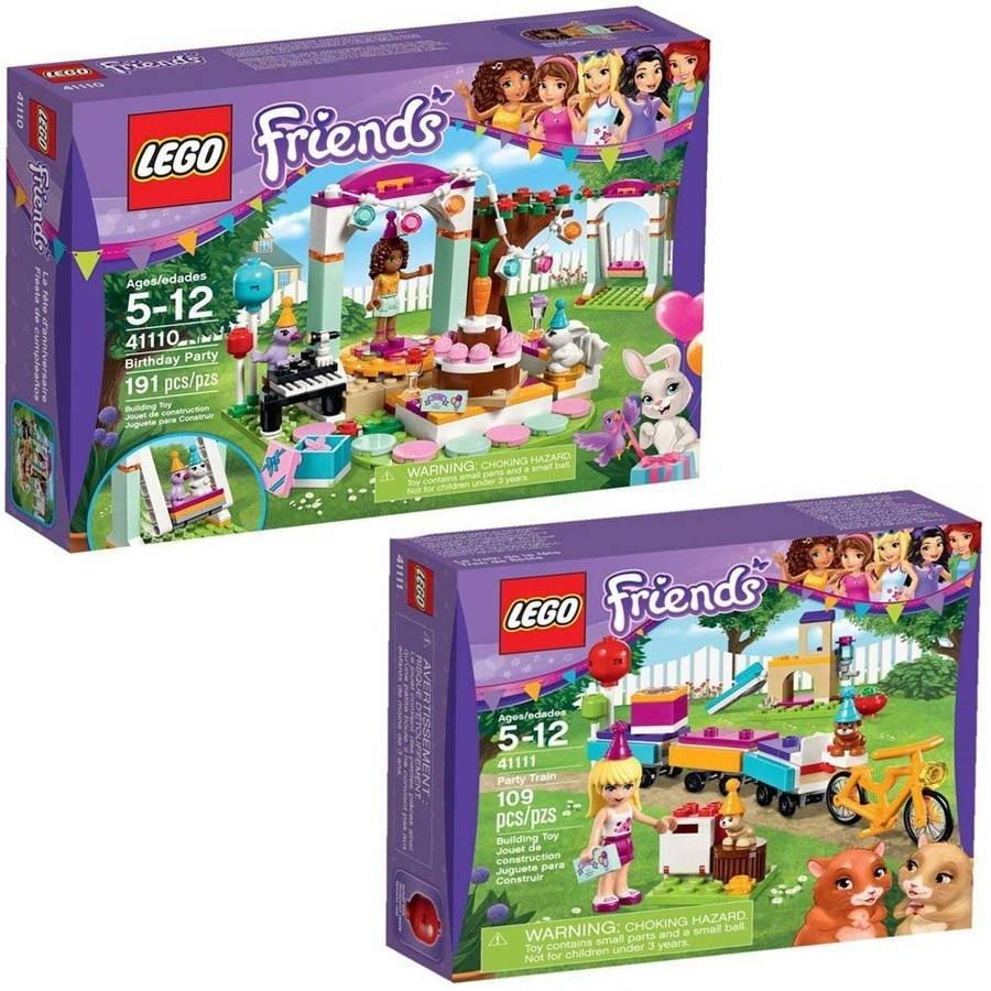 Lego Friends Party Train & Birthday Party Building Sets - Walmart.com