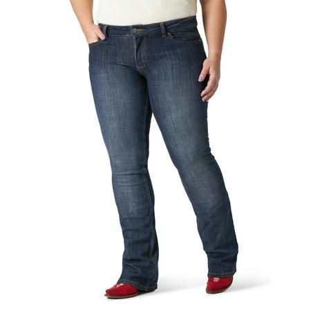 Wrangler Women's Plus Size Essential Mid Rise Bootcut Jean